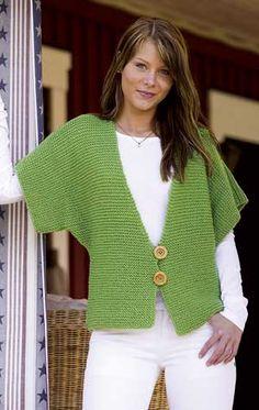 Casaco verde de trico