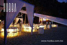 www.hubba.com.mx #video #iluminación #música #eventos #decoración #bodaenlaplaya