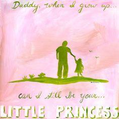 Daddy's Little Princess Canvas Art