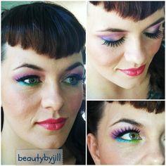 peacock-inspired makeup! #beautybyjill