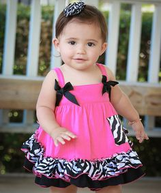 Look at this Pink Zebra Swing Top Set - Infant on #zulily today!