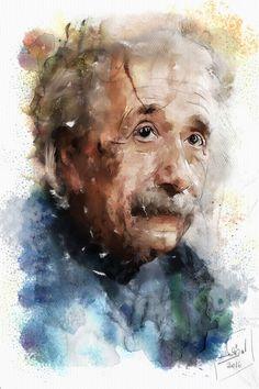 """Check out my @Behance project: """"Albert Einstein Mixed media - Giclée - Paper"""" https://www.behance.net/gallery/47449909/Albert-EinsteinMixed-media-Gicle-Paper"""