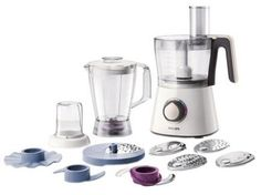 Philips Robot Viva Collection Blanc 750 W Bol + Blender + Hachoir Small Kitchen Appliances, Kitchen Gadgets, Kitchen Small, Small Kitchens, Kitchen Tools, Pesto, Philips Viva Collection, Robot Thermomix, Blenders