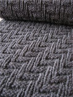 Super easy pattern perfect for a scarf or blanket! http://knitcrochetobsession.blogspot.ca/2012/03/pattern-that-is-perfect-of-mans-scarf.html