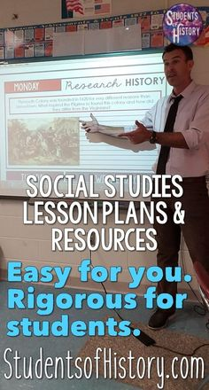 Social studies lesson plans and resources for US History, World History, and Government. Engaging and hands on for students; no prep for you the teacher. Live stress free with our curriculum subscriptions! world history 7th Grade Social Studies, Social Studies Curriculum, Social Studies Lesson Plans, Social Studies Classroom, Social Studies Activities, Teaching Social Studies, Social Studies Projects 5th, Curriculum Planning, History Lesson Plans