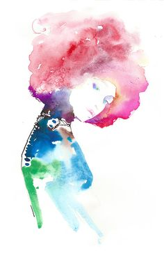 Print of Watercolor Painting fashion by silverridgestudio on Etsy