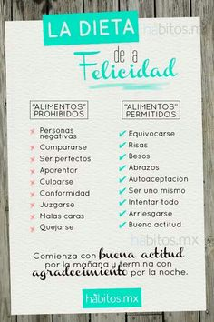 Dieta de la felicidad https://www.facebook.com/Emprendedor.Success
