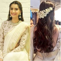 The ultimate guide for the Indian Bride to plan her dream wedding. Things no one tells brides,real weddings, ideas, inspirations, design trends | Damn! Sonam Kapoor stays with that half gajra hair style! <3 | #bridal #fashion #inspiration #IndianWedding | Curated by #WittyVows - Things no one tells Brides | www.wittyvows.com