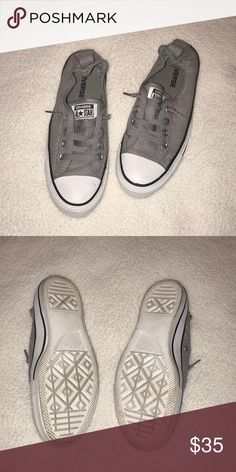 Gray women's style Converse Gray converse only worn twice. I wore them for a weekend but never again. Great condition. Converse Shoes Sneakers