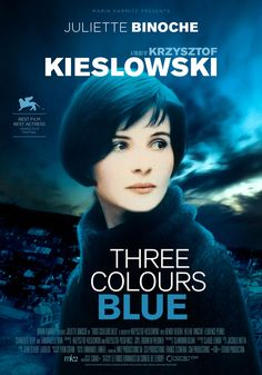 Three Colours: Blue (1993) Krzysztof Kieslowski Theatrical Onesheet / Movie Poster for Nonstop Entertainment design by Kellerman Design