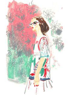 Look n°6 of Tsumori Chisato's gorgeous collection. École Nationale Supérieure des Beaux-Arts, quai Malaquais, sept. 27