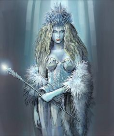 SciFi and Fantasy Art White Witch 3 by Matthew Davidson - I love how crazy her hair is here