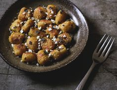 pumpkin gnocchi with sage and feta | Flickr - Photo Sharing!