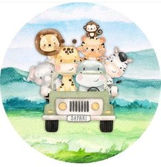 Safari Birthday Party, Animal Birthday, Tatty Teddy, Baby Shower Princess, Baby Boy Shower, Baby Animal Drawings, Safari Decorations, Baby Wall Art, Safari Theme