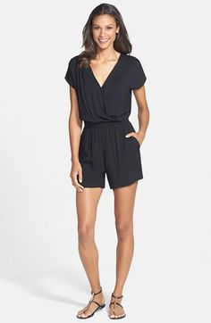 55c9c977b4d Olivia Moon Wrap Top Romper available at  Nordstrom Flowy Shorts