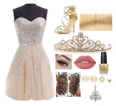 """""""homecoming queen"""" by madison-m-g on Polyvore featuring Dorothy Perkins, Nina Ricci, BillyTheTree, Lime Crime, OPI and LULUS"""