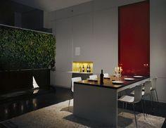 Die leuchtende Weinbar ist einen modernen Zusatz zum Innendesign