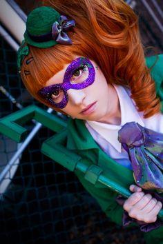 Riddlerette (genderbend lolita version of Riddler) from BatmanCosplayer: LilacIncrementPhotographer: Cateography Batman Cosplay, Dc Cosplay, Cosplay Dress, Cosplay Outfits, Best Cosplay, Cosplay Costumes, Awesome Cosplay, Costume Makeup, Cosplay Girls