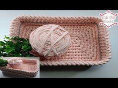Crochet Storage Crochet T Shirts Yarn Bag Yarn Projects Crochet Projects T Shirt Yarn Sewing Accessories Crochet Purses Knitted Bags Knitting Yarn, Knitting Patterns, Crochet Patterns, Crochet T Shirts, Knit Crochet, Rectangular Baskets, Granny Square Crochet Pattern, Crochet Videos, T Shirt Yarn