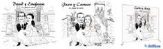 1- PHOTOCALL ESTILO CARICATURA - ACABADO TINTA  La ilustración incluiría a la pareja, a cuerpo entero, con un título, y fondo personalizado a elegir o definir.  CONTACTA PARA MÁS INFORMACIÓN:  www.albertllort.com albert@albertllort.com