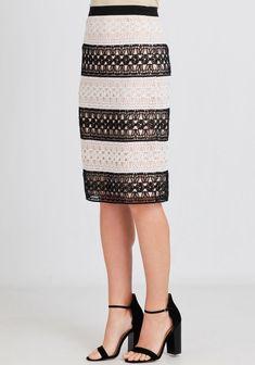Spring Look Picture Description Walk In Wonderland Stripe Lace Skirt | Modern Vintage Clothing | Ruche https://looks.tn/season/spring/spring-look-walk-in-wonderland-stripe-lace-skirt-modern-vintage-clothing-ruche/