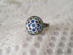 Swarovski chatons and epoxy clay ring <3    www.perlevaniglia.com    #handmade #jewelry