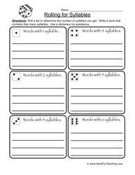 Three Syllable Riddles - Syllables Worksheet 3   Worksheets ...