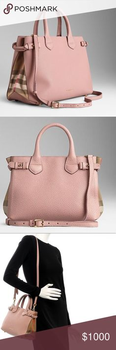 a087f00928 Burberry Small Banner Tote Beautiful mini tote with removable crossbody  strap in nude blush.