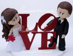 topo de bolo engraçado para casamento - Pesquisa Google Wedding Cake Toppers, Wedding Cakes, Our Wedding, Destination Wedding, Ballerina Cakes, Bride Of Christ, Cute Clay, Clay Dolls, Cold Porcelain