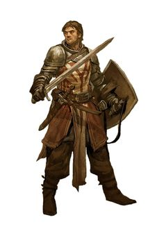 Human Fighter Warrior - Pathfinder PFRPG DND D&D d20 fantasy