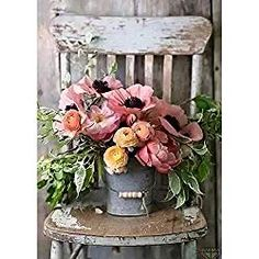 DIY Diamond Painting by Number Kits,Full Drill,Diamond Embroidery Painting Cross Stitch Arts Craft Decor Flower Pot On The Stool × 1 Pack by Juntop Diamond Drawing, 5d Diamond Painting, Diamond Art, Diy Painting, Painting Frames, Painting Flowers, Round Desk, Mosaic Kits, Celtic