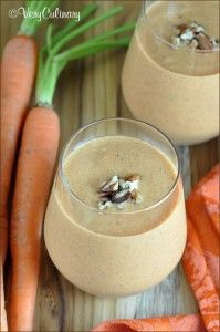 Carrot Cake Smoothie and more of the best carrot cake recipes on MyNaturalFamily.com #carrotcake #recipe