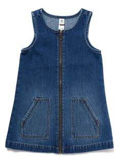 Denim Pinafore Dress from Tu at Sainsbury's ! Your Online Shop for Girl's Dresses & Outfits team outfits Womens, Mens, Kids & Baby Fashion Dress Design Patterns, Baby Dress Design, Baby Dress Patterns, Dress Designs, Frocks For Girls, Kids Frocks, Dresses Kids Girl, Kids Outfits, Little Girl Fashion