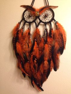 Small Owl Dream Catcher by VictoriasIndicaDream on Etsy