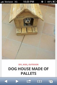 How to build a doghouse from pallets. 6/17/13