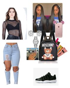 """""""couldn't find the shirt better"""" by nuddasoles ❤ liked on Polyvore featuring Ecru Lab, Victoria's Secret, Moschino, Effy Jewelry and Rolex"""