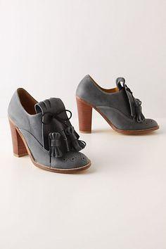 Kiltie Oxford Heels - StyleSays
