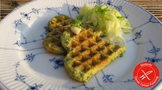 Glutenfri vafler med spinat