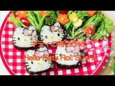HELLO KITTY COOKING 「HELLO KITTY SUSHI ROLL」 - YouTube