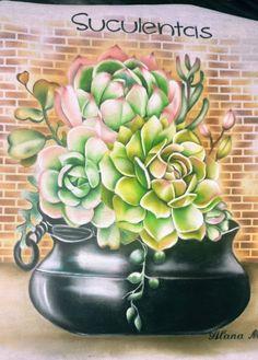 Stencils, Succulents, Animation, Canvas, Plants, Social Media, Cactus Painting, Cactus Art, Paint For Kitchen