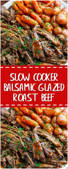 Slow Cooker Balsamic Glazed Roast Beef  #slowcooker #whole30 #foodlover #homecooking #cooking #cookingtips