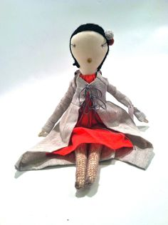 Love the outfit on this heirloom rag doll