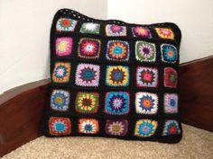 Hand crocheted cushion by MouldyMama on Etsy, $45.00
