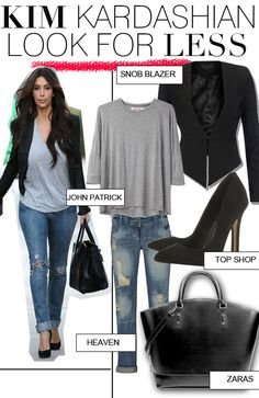 Get Kim Kardashian's Casual Look For Less   FashionBased   Fashion Based