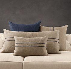 Pillow - linen flour sack