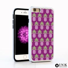 Pink Pineapple Tropical Fruit Summer Cell Case / TPU iPhone Case iPhone 6 iPhone 6S Plus Case iPhone 5s Galaxy s5 Galaxy s6