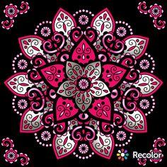Mandala Drawing, Mandala Painting, Dot Painting, Gel Pen Art, Gel Pens, Coloring Book Art, Coloring Pages, Desenhos Love, Fractal Art