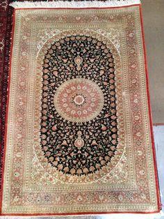 Silk Persian Rug Genuine Handmade Oriental Rug by ToossiRugGallery