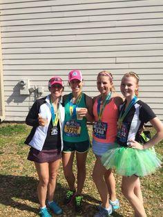 #sisterheroes @oiselle *Jenny, Tiff, Missy, Ashley* Gate River Run - March 2014