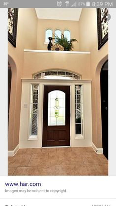 Niche decor idea for over the front door & DESIGN TIP: Creating a Gorgeous Faux Floral Arrangement with ...